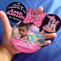 This listing is a finished product of the already cut by me Mickey Mouse Baby Boy or Minnie Mouse head First bday or it can be altered to 2nd or 3rd