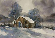 dipingere con la neve acquerello - Cerca con Google