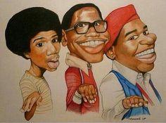 Ahhhh What's Happening! Funny Caricatures, Celebrity Caricatures, Celebrity Drawings, Black Love Art, Black Girl Art, Art Girl, Black Tv, Black Art Painting, Black Artwork