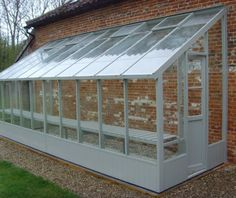 Swallow Dove 6x20 Lean to Greenhouse with custom Grey paint finish. £3734.00 inc. Installation  http://www.greenhousestores.co.uk/Swallow-Dove-6x20-Lean-to-Greenhouse.htm