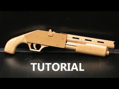 Pump action rubber band shotgun - $5 plans and free tutorial - YouTube