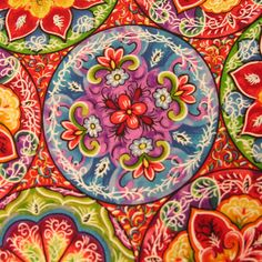 Timeless Treasures Paradise Collection by Patricia B. Campbell mandalas one yard (35 inches washed) of 100% cotton fabric. $10.99, via Etsy.
