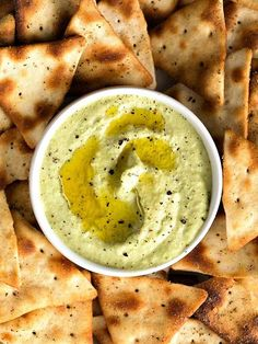 If you love to snack on hummus, you'll want to try this take on the delicious dip. A bit of cumin and black pepper give this creamy favorite an added kick. And with edamame and roasted garlic, it's sure to please all your hummus-loving friends! Garlic Edamame, Roasted Garlic, Garlic Hummus, Garlic Aioli, Appetizer Recipes, Snack Recipes, Appetizers, Cooking Recipes, Hummus
