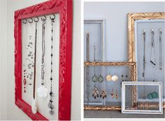 hanging necklace frame