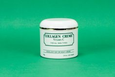Collagen Creme -The only scientifically tested and proven way to proven way to promote collagen within the skin is to offer the skin calls nutrients they need, namely Vitamin C and calcium ions. Within a water-soluble creme base it stores within the skin to help increase elastin production in the skin for the cells that produce collagen, these cells utilize the Vitamin C at will to promote elastic balance for the appearance of supple healthy skin.