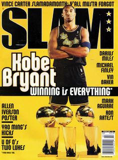 SLAM 66: Los Angeles Laker Kobe Bryant appeared on the cover of the 66th issue of SLAM Magazine (2003).
