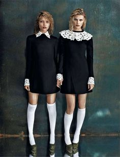 The Amica September 2013 Editorial Shows Sibling Interactions #Sibling #Photography trendhunter.com