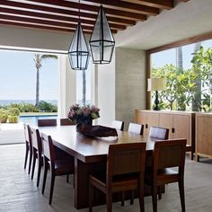 Dining Terrace : Cindy Crawford and Rande Gerber and George Clooney's Side-By-Side Mexican Villas : Architectural Digest