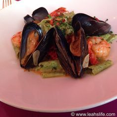 Arugula Papardelle With Mussels And Shrimp @ UpStairs on the Square