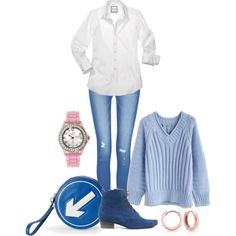 Casual by barbaratweten on Polyvore featuring Chicwish, Anya Hindmarch, Bling Jewelry and circleitup