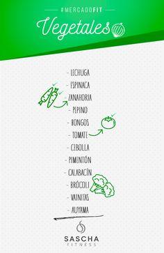 Lista de mercado fit Vegetales - www.saschafitness.com