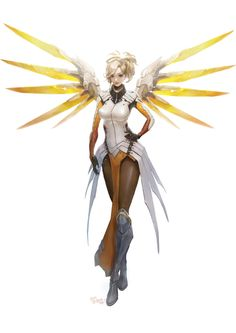 Overwatch Mercy , Kim Jisung on ArtStation at https://kimjisung.artstation.com/projects/qRmJe - More at https://pinterest.com/supergirlsart #overwatch #fanart