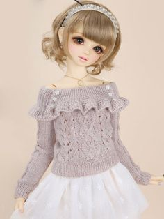 BJD Clothes Girl Sweet Hand Kniting Sweater for SD Ball-jointed Doll