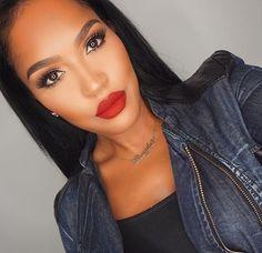 """19 Insanely Gorgeous Lipstick Colors Worth Every Penny - This gorgeous lipstick color = Coloured Raine """"Cherry Blossom"""" Sie sind an der richtigen Stelle - Makeup On Fleek, Flawless Makeup, Gorgeous Makeup, Makeup Shayla, Makeup Tips, Beauty Makeup, Eye Makeup, Hair Makeup, Red Lipstick Makeup"""