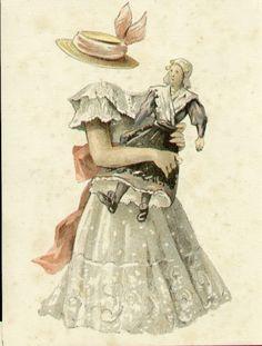 Aankleedpop - Koningin Wilhelmina - dress up doll Queen Wilhelmina -1890-1948 Became Queen at age 10