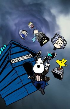 Snoopy Doctor Who! Lots of these involving Doctor Who. Dr Who, Charlie Brown, Doctor Who, Eleventh Doctor, Doctor Stuff, Comics Illustration, Illustrations, Fandoms Unite, Snoopy Doctor