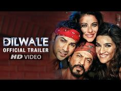 Offical Trailer has been launched for the most awaited film for the Jodi of Kajol and Shah Rukh Khan. Varun Dhavan and Kriti Sanon will also appear as lead roles in the movie. Dilwale is Directed by Rohit Shetty and Produced by Gauri Khan. Latest Movie Trailers, Latest Movies, New Movies, Movies Free, Dilwale 2015, Bollywood Movie Trailer, Bollywood Songs, Bollywood Saree, Bollywood Actors