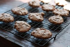 chewy chocolate cookies.