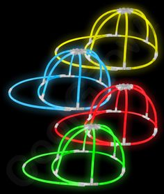 Glow in the dark hats