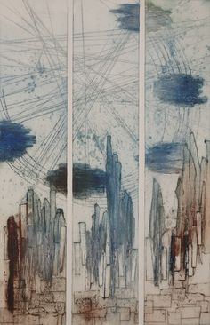 Alexandra Sivov is a Houston based fine artist who works with mixed media and unveils the secret of architecture, its dynamic lines sometimes in movement through abstract paintings and monoprints. Abstract, Architecture, Artist, Painting, Summary, Arquitetura, Painting Art, Paintings, Architecture Design