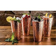 Members Mark 20 oz Double Wall Copper Plated Tumblers 4 pk High quality NEW Copper Glass, Hammered Copper, Pure Copper, Copper Kitchen Utensils, Kitchen Items, Rose Gold Theme, Insulated Tumblers, Wall Design, Planter Pots