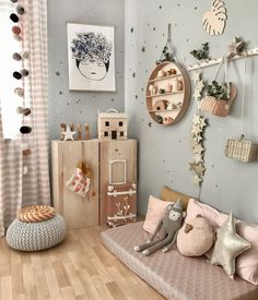 What a beautiful, cosy kid's room corner by 👈🏻 Featuring many of our favorite items, all available online from our store 💫… Baby Bedroom, Baby Boy Rooms, Little Girl Rooms, Baby Room Decor, Nursery Room, Kids Bedroom, Bedroom Ideas, Kids Rooms Decor, Girl Kids Room