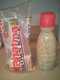I use rice often and this is a clever and space saving way to store rice.  Not to mention the other snack possibilities.