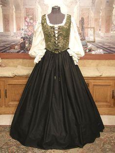 Renaissance Faire Clothing   Renaissance Wench Costume Bodice Skirt Gown Dress Faire Clothing Garb