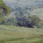 Sketch near Tumut - © Copyright John Wilson Painting Gallery, Art Gallery, Watercolors, Watercolor Paintings, Wilson Art, Australian Artists, Blue Mountain, Sketch, Sunset