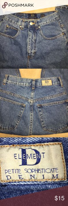 """Element Petite Jeans Element Petite Jeans-24"""" waist- 13"""" rise- 26-1/2"""" inseam- 6-1/2"""" across bottom- pet free-smoke free home-thanks for looking! Element Jeans Ankle & Cropped"""