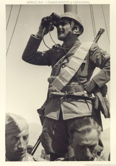 Cefalonia.Folgore paratroopers,1941 - pin by Paolo Marzioli