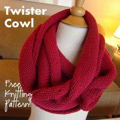 NobleKnits Knitting Blog: Twister Cowl Free Knitting Pattern