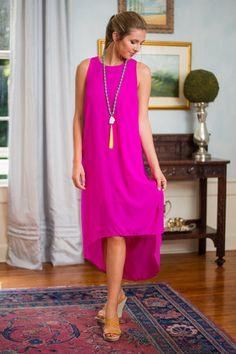 Partial To Polished Midi Dress, Fuchsia