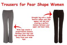 Trousers for pear shape women ~ how to dres pear-shape