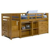 Found it at Wayfair - Chelsea Home Twin Low Loft Bed with Storage