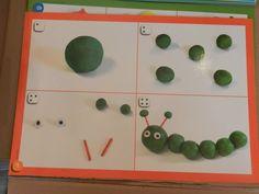 Plasticinematjes Hungry Caterpillar Activities, Very Hungry Caterpillar, Preschool Learning, Teaching Kids, Play Doh Party, Creative Curriculum, Plasticine, Eric Carle, Montessori