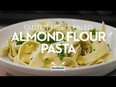 Recreate your favorite Italian dishes with this easy, gluten-free almond flour pasta dough made with just four ingredients. Almond Flour Pasta Recipe, Keto Pasta Recipe, Paleo Pasta, Almond Flour Recipes, Gluten Free Pasta, Pasta Recipes, Cooking Recipes, Healthy Recipes, Carb Free Pasta