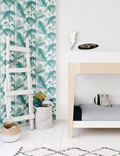 Embrace the tropical trend at home http://petitandsmall.com/kids-rooms-tropical-decor-inspiration/