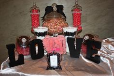 """Photo 1 of 7: Pearls, Pink, Black, Love, Candy Buffet / Bridal/Wedding Shower """"Bridal Shower"""" 