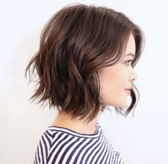 Brunette Short Textured Cut by Mane Master Anh Co Tran of Ramirez Tran Salon in…