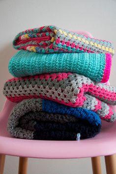 Patroon Granny Square deken van PieceOfaCookie op Etsy