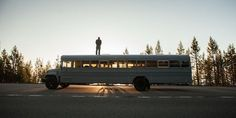 """""""He crafted a home out of an actual, full-size school bus."""""""