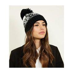 New Look Black Est 86 Fairisle Bobble Hat d94f226f900