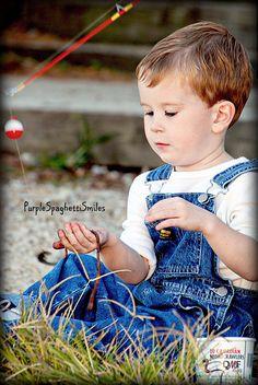 Toddler, Boy, Fishing