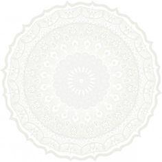 Kaleidoskooppi tapetti valkoinen, Vallila