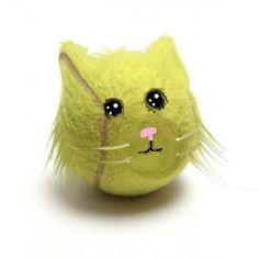 Tennis ball cat by rainbowmonkey9