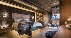 Incredible luxury bedroom, chalet mont blanc   chambre 1 – Chalet Mont-Blanc, Megève, France