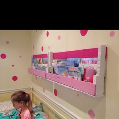 Our homemade pallet bookshelves! Inspired by pinterest!#Repin By:Pinterest++ for iPad#