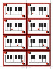Tons of Review Games for Music & Piano, but could be adapted for other review.
