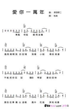 小酒窩ukulele譜 | ukulele | Pinterest